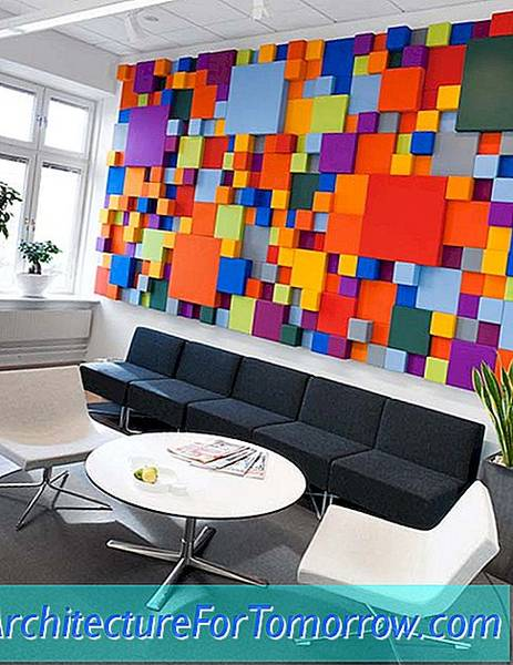 Cheerful Pensions Agency Interior Design in Zweden