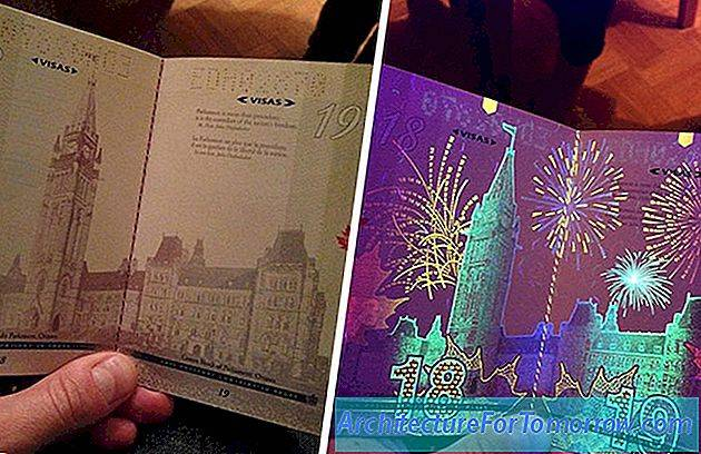 Hidden Illustrations Revealed Under UV Lighting by Canada's nieuwste paspoortontwerpen